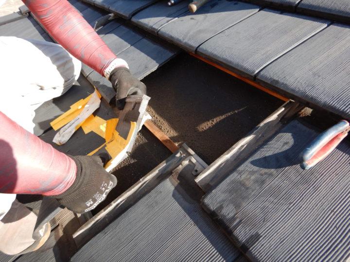 屋根瓦 差し替え工事