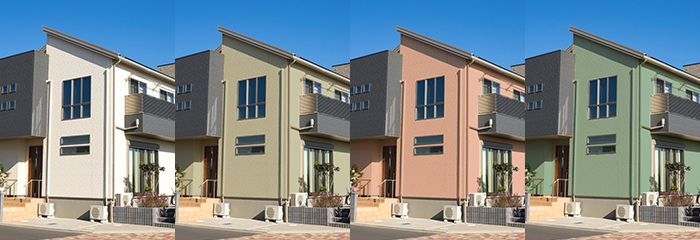 お家の見た目は 色選びで決まります!