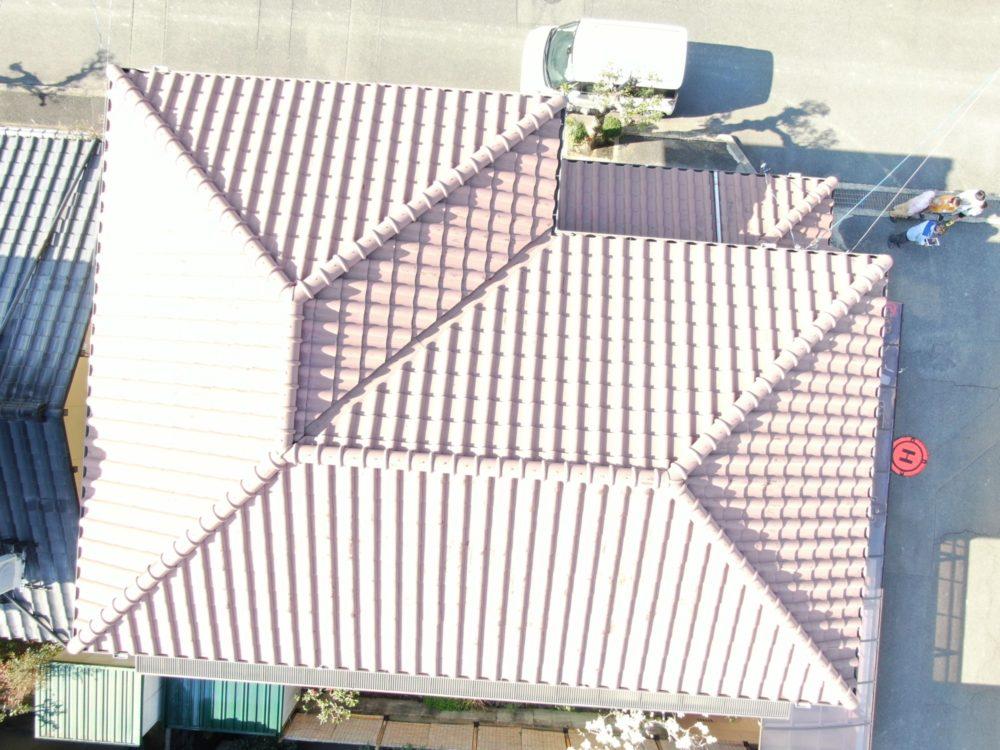 屋根 瓦 ドローン
