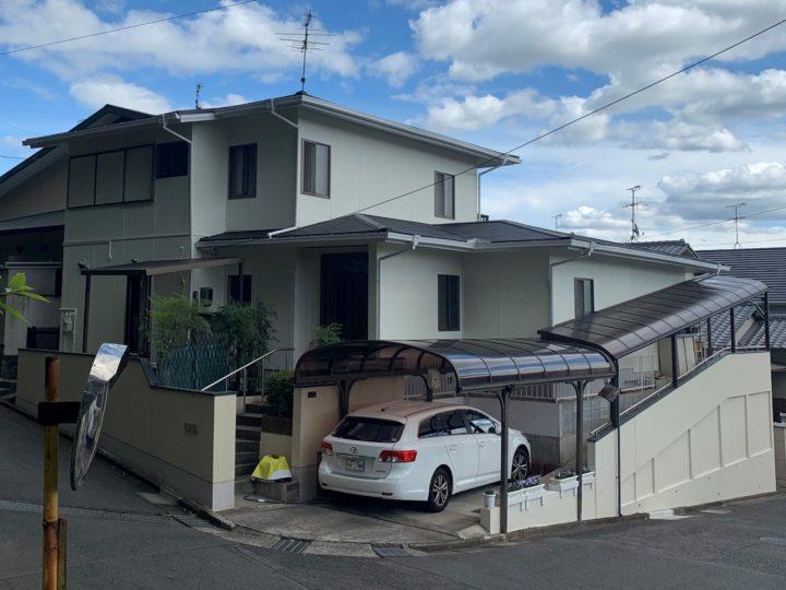 倉敷市 W様邸 屋根カバー工事・外壁塗装