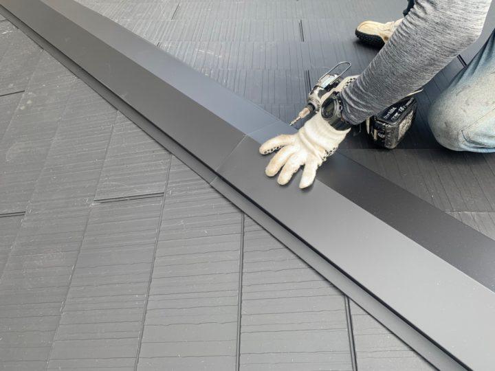 屋根 棟板金施工