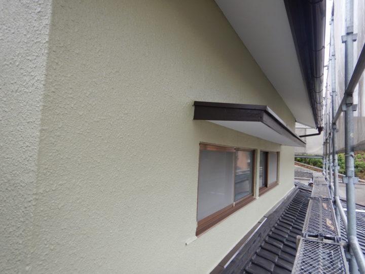 軒天井・小庇塗装