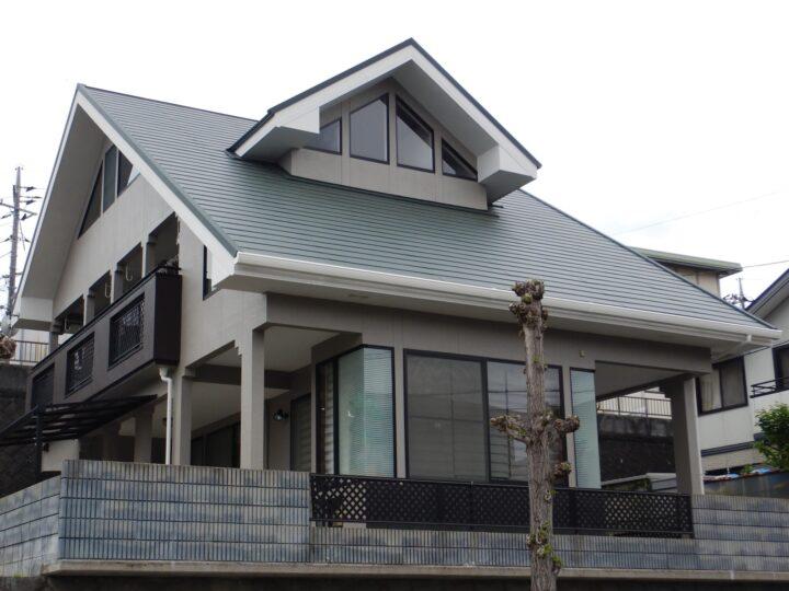 倉敷市 K様邸 屋根カバー工事・外壁塗装