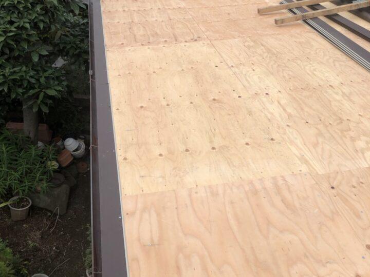 屋根下地材上張り