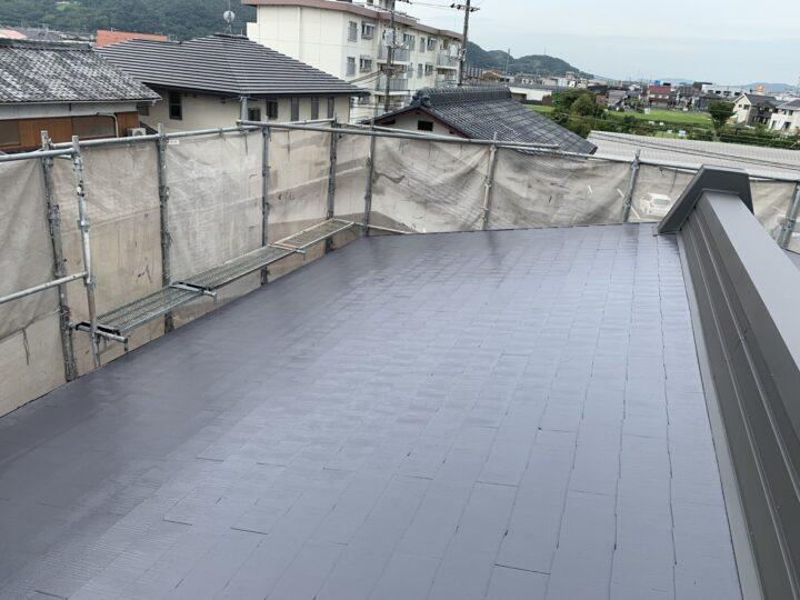 屋根中・上塗り(遮熱塗料)